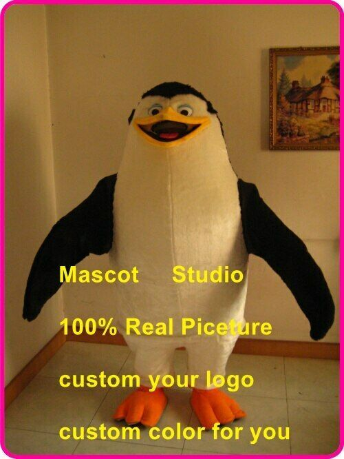 Penguin Mascot Costume Suit Cosplay Party Game Dress Outfit Halloween Adult