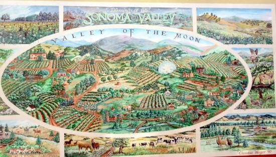 Sonoma Valley Mural (by Sonoma Town Square Area), Sonoma, Ca