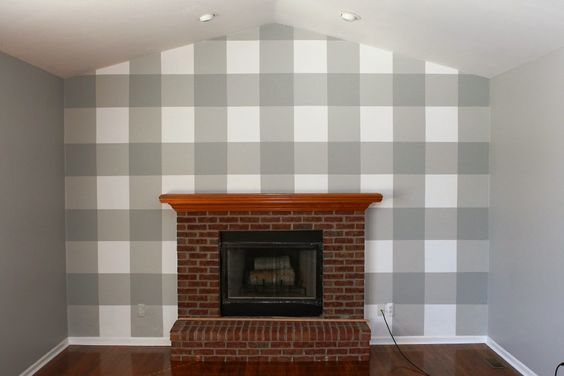 Plaid and Painted walls on Pinterest