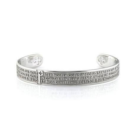 """Il #bracciale di #Tuum Origine è realizzato in #argento #rodiato con impressa in rilievo la preghiera del """"Padre Nostro"""" in latino. Acquistabile #online in vari #colori!!!"""