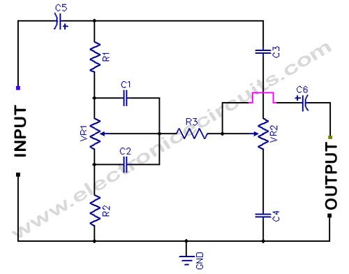 Bass Treble Tone Control Circuit Diagram With Images Basic