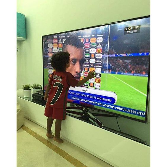 O filho de Nani. Euro 2016. Portugal.: