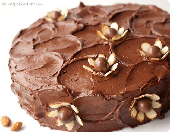 chocolate covered almond cake