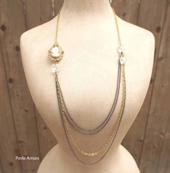 Lady Mary multichain necklace