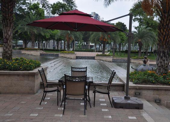 garden umbrella for cafe www.facebook.com/pages/Foshan-Fantastic-Furniture-CoLtd                                                         www.ftc-furniture.com
