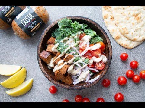 Seitan Shawarma Bowl I The Buddhist Chef Youtube Seitan Shawarma Middle Eastern Recipes