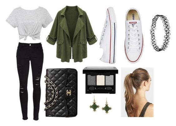 """""""andrea adams"""" by rachelsianappleton on Polyvore featuring beauty, Frame, Chanel, France Luxe, 1928, StreetStyle, CelebrityStyle and londonfashionweek"""