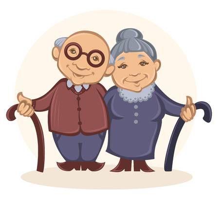 Stock Photo Imagenes De Abuelitos Dibujo Abuela Y Anciano Dibujo