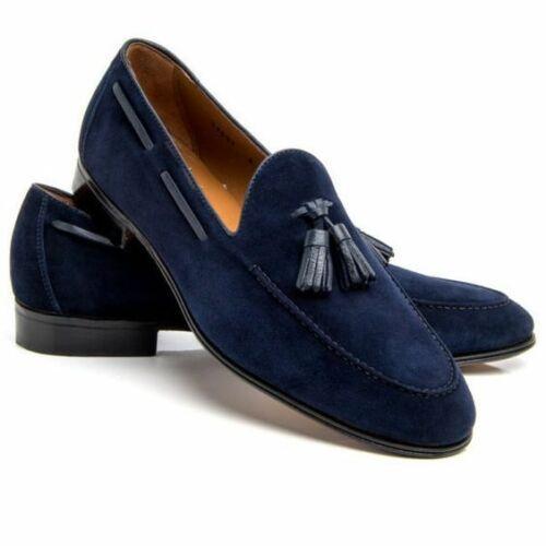 Tassel shoes, Blue suede shoes, Loafers men