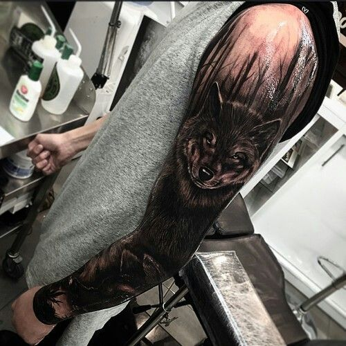 Wood tattoo tattoo sleeves and wolves on pinterest