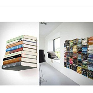 Wall Mounted Floating Bracket Conceal Invisible Bookshelf