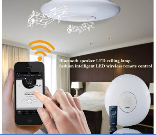 Remote Control Energy-saving LED Ceiling Light With Bluetooth ...:Remote Control Energy-saving LED Ceiling Light With Bluetooth Speakers ...,Lighting