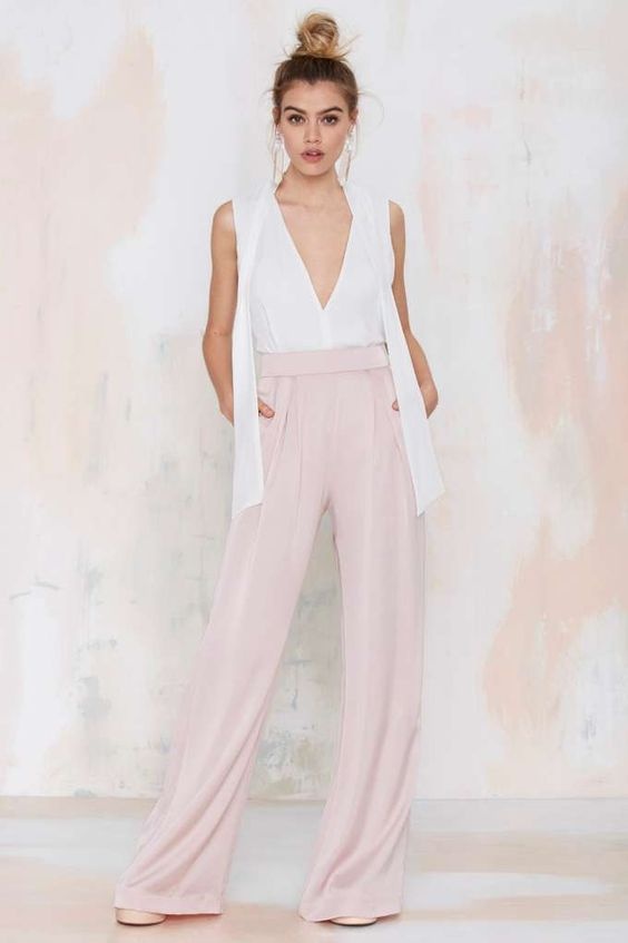 Nasty Gal Wet 'n Wide Palazzo Pant // www.babesngents.com // #babesngents