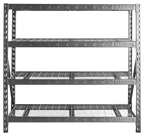 Gladiator Gars774xeg 77 Wide Heavy Duty Rack With Four 2 Https Www Amazon Com Dp B01exxx5kq Ref Cm Sw Heavy Duty Racking Heavy Duty Shelving Deep Shelves