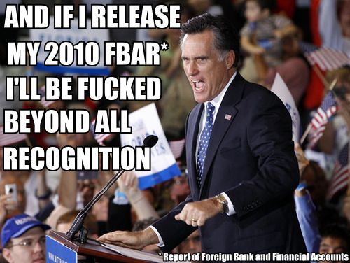 Mitt Romney has released his taxes for 2010 but not the FBAR