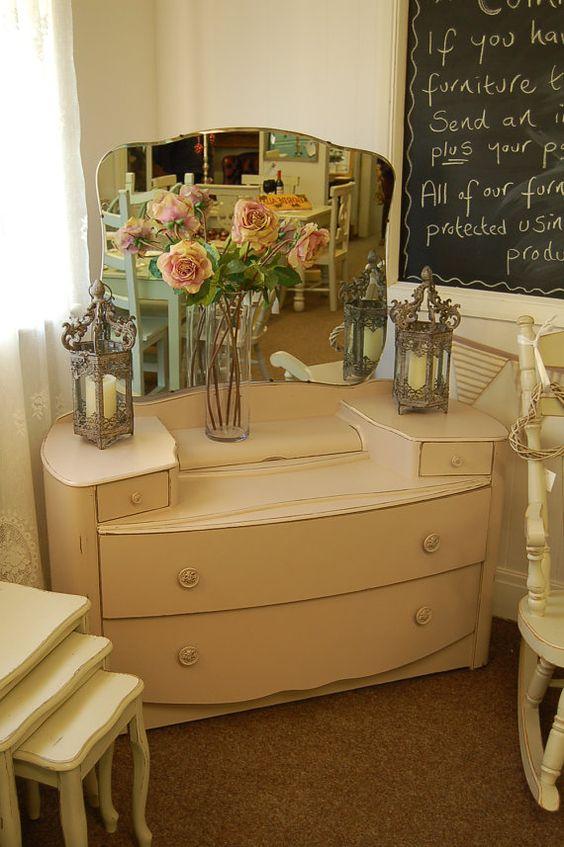 Vintage dressers, Beautiful and Vanities on Pinterest