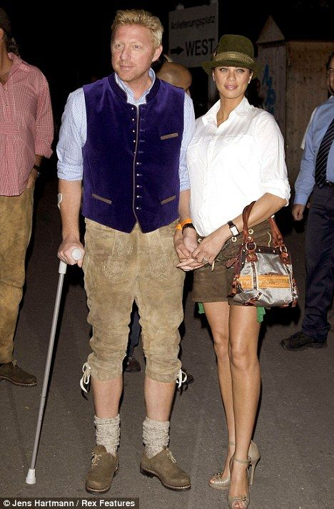 Boris Becker and wife Sharlely 'Lilly' Kerssenberg at the Oktoberfest, Munich, Germany