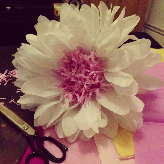 how to make big tissue paper flowers In this tutorial you'll learn how to make a paper flowers with  to make the petals:  take one sheet of tissue paper, fold it in half and cut the top.