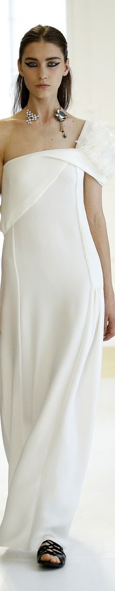 Christian Dior fall 2016 white long dress @roressclothes closet ideas #women fashion outfit #clothing style apparel