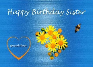 Happy Birthday Sister Unconditional Love Greeting Card: Sister Birthday, Birthday Theme, Sisters Birthdate, Birthday Cards, Younger Sisters, Happy Birthday Sister, Greeting Cards, Daisy Birthday