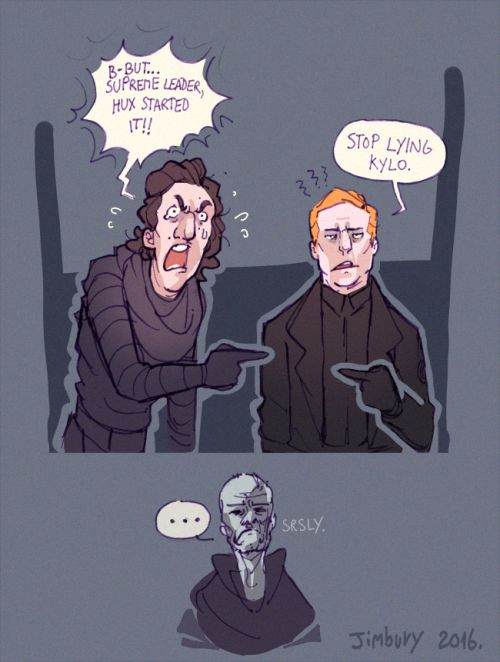 Haha Snoke is 100% done right now