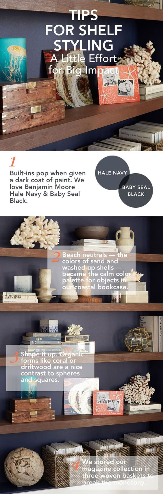 Make a big impact with little effort. Here are 4 tips for styling a shelf in your home.  | Shutterfly