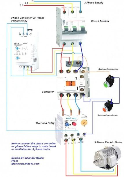 3 Phase Contactor Wiring Diagram Pdf | Electrical wiring diagram, Wire,  Diagram | Push On Switch Wiring Diagram Contactor |  | Pinterest