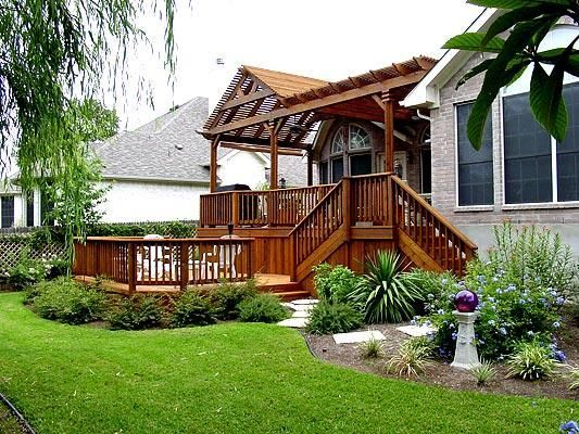Multi Level Decks With Roof Roofs Deck With Pergola Multi Level Deck Patio Builders
