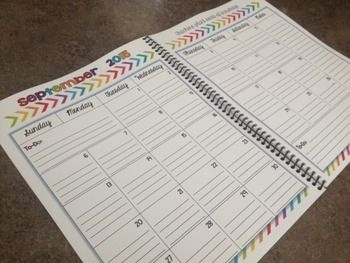 Free 2015 2016 editable calendar is perfect for adding to for Free planbook