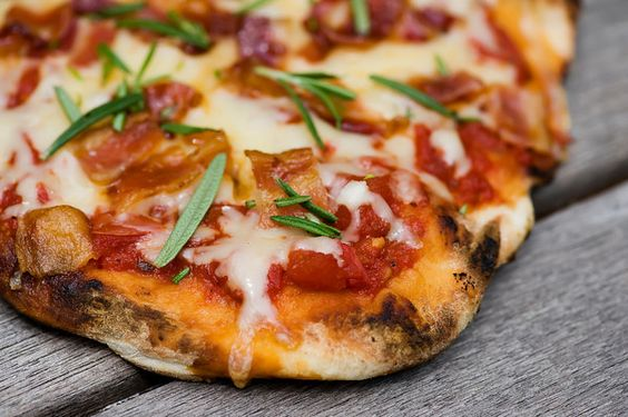 Grilled Pizza with Bacon and Rosemary.  This needs to happen soon.