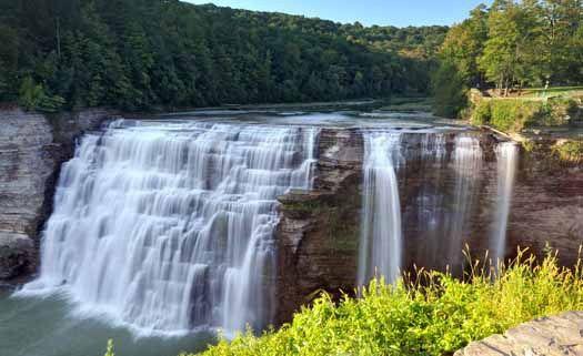 Genesee Fall im Letchworth State Park - Auf der Rückfahrt von den Niagarafälle n, ist dieser Wasserfall ein Ziel