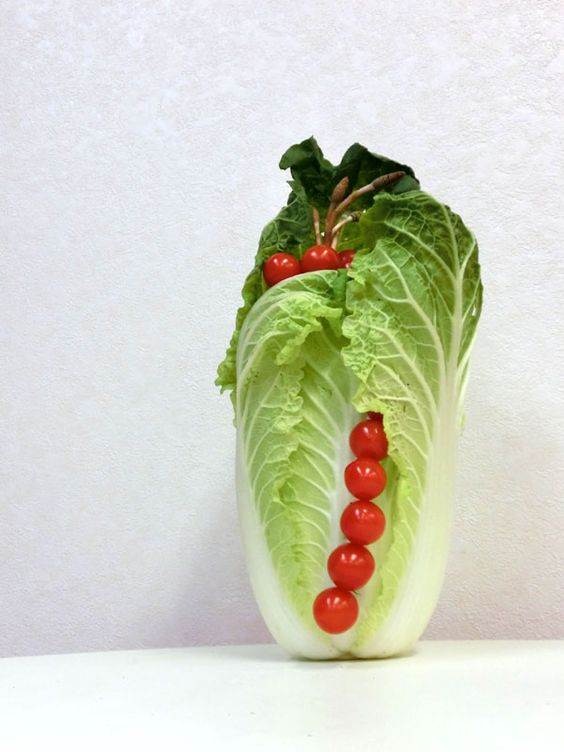 vegetable ikebana: