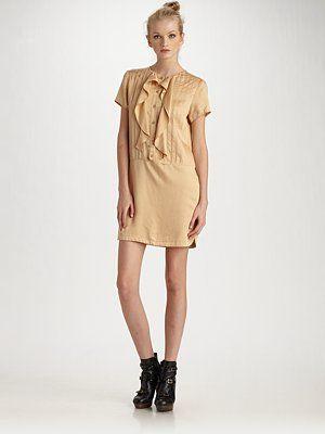 See by Chloe  Ruffle-Front Drop-Waist Dress