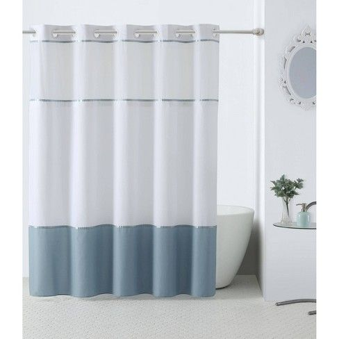Hookless Windstar Shower Curtain With Liner Hookless Shower