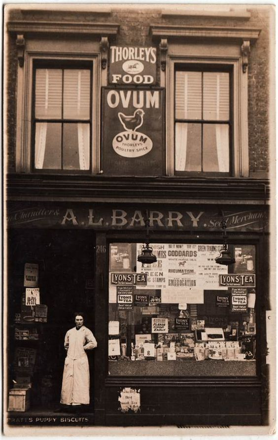 A.L.Barry, Chandlers & Seed Merchants, 246 Roman Rd from Philip Mernick's East London Shopfronts