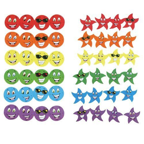 Stinky Stickers Variety Pack, Smiles And Stars, 648/pack