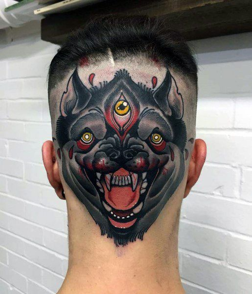 40 Neo Traditional Wolf Tattoo Ideas For Men Wild Designs In 2020 Eye Tattoo Tattoos For Guys Evil Eye Tattoo