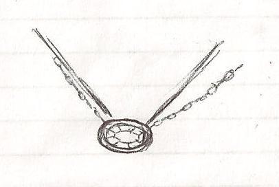 Custom designed ladies pendant