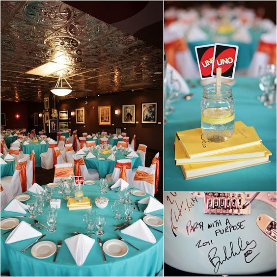 Retro weddings, Game cards and Wedding centerpieces on ...