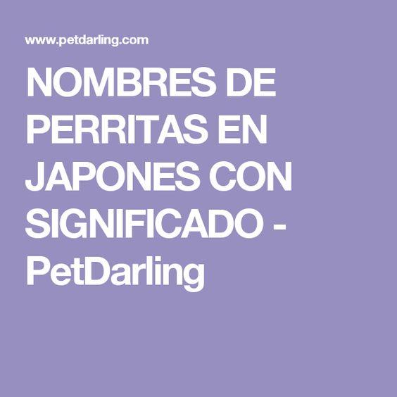 NOMBRES DE PERRITAS EN JAPONES CON SIGNIFICADO - PetDarling