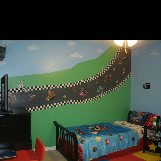 d co chambre mario kart. Black Bedroom Furniture Sets. Home Design Ideas