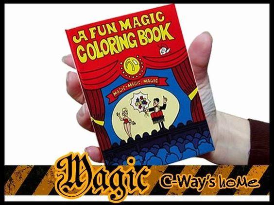 Coloring Book Magic Trick Unique P055 Close Up Funny Magic Mini Trick A Fun Magic Coloring Magic Tricks Book Coloring Books Magic Tricks