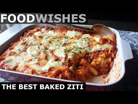 Food Wishes Video Recipes The Best Baked Ziti Operation Abbondanza In 2020 Baked Ziti Food Wishes Ziti