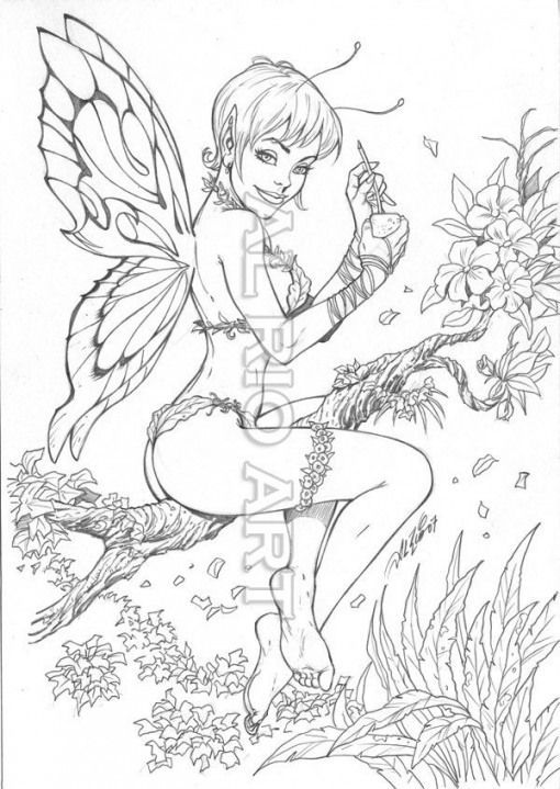 Drinks Drinks Drawing Fairy Coloring Pages Steampunk Coloring Fairy Coloring