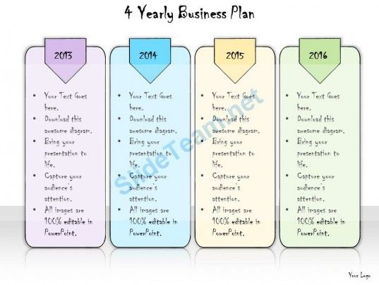 1013 Business Ppt Diagram 4 Yearly Business Plan Powerpoint