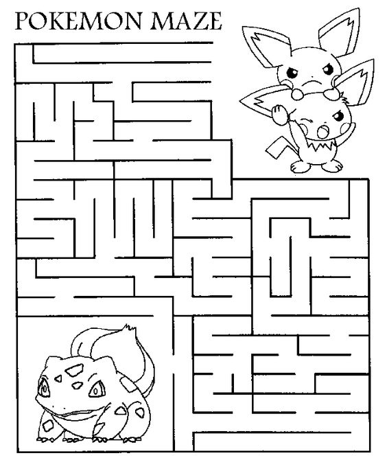 Hello Pokemon fans - ehre is a printable maze for you all ...