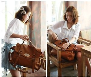 New Fashion Retro Vintage Womens Messenger bag Shoulder Satchel Bag Brown