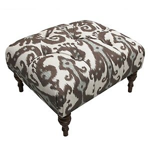 Nate Berkus™ Marrakesh Cobblestone Ottoman at HSN.com; for the next living room, kick your heels up