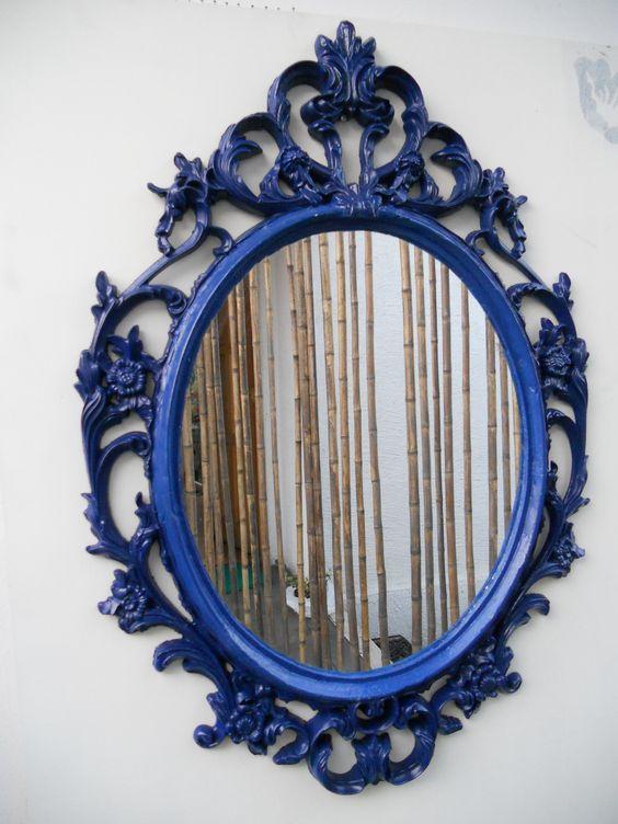espejo resina pintado