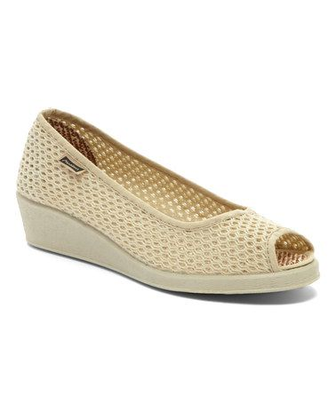 Look what I found on #zulily! Beige Ines Rejilla Clasico Wedge - Women #zulilyfinds